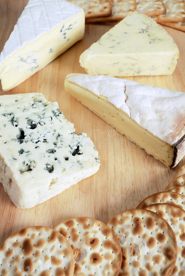 Quatre fromages gastronomes images stock