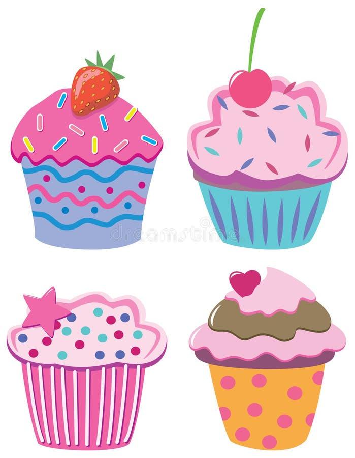 Quatre gâteaux illustration stock