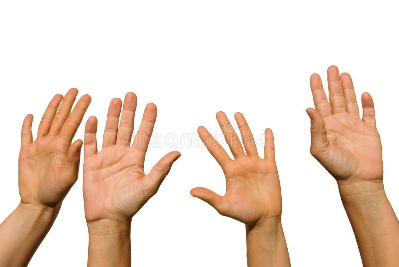 Quatre mains photos libres de droits