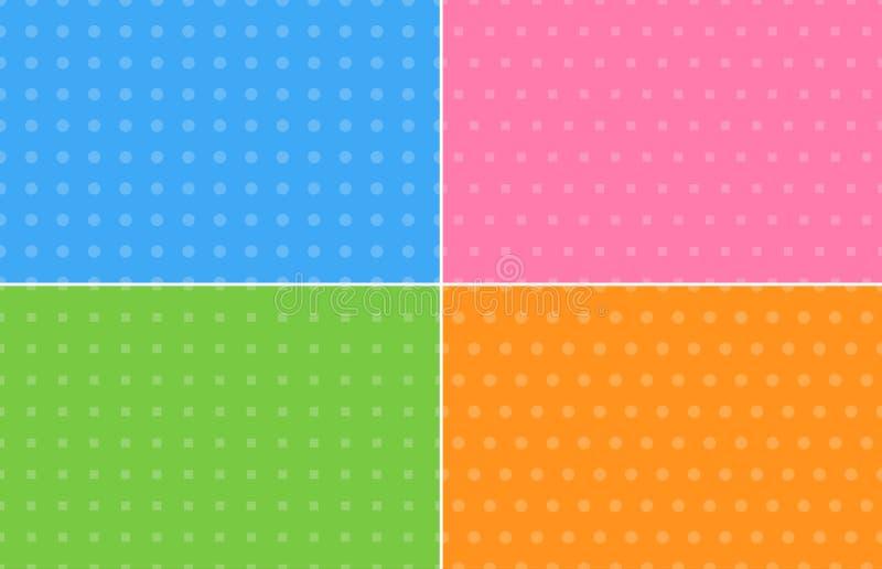 Quatre milieux abstraits dans des couleurs en pastel illustration stock