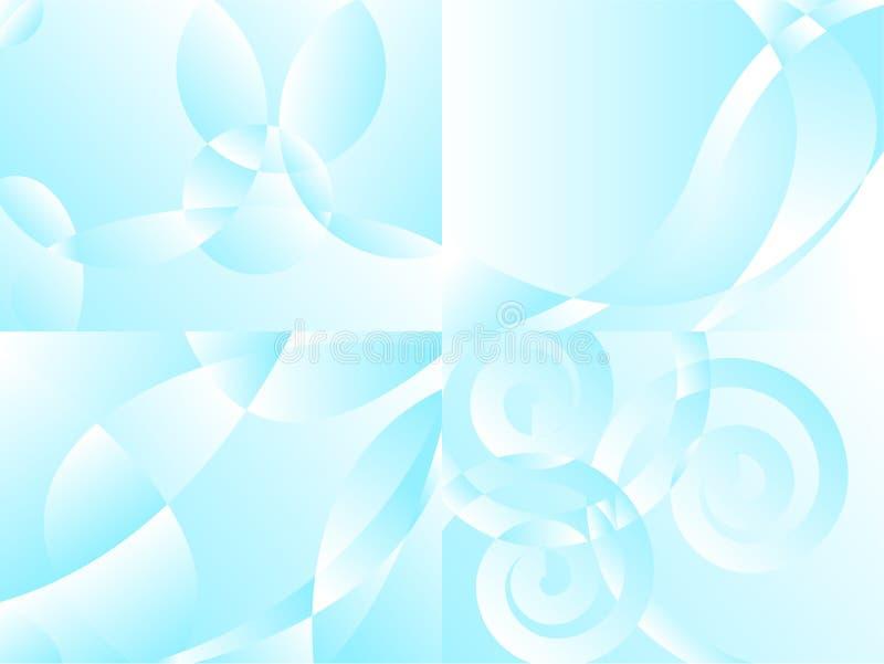 Quatre milieux d'air illustration de vecteur