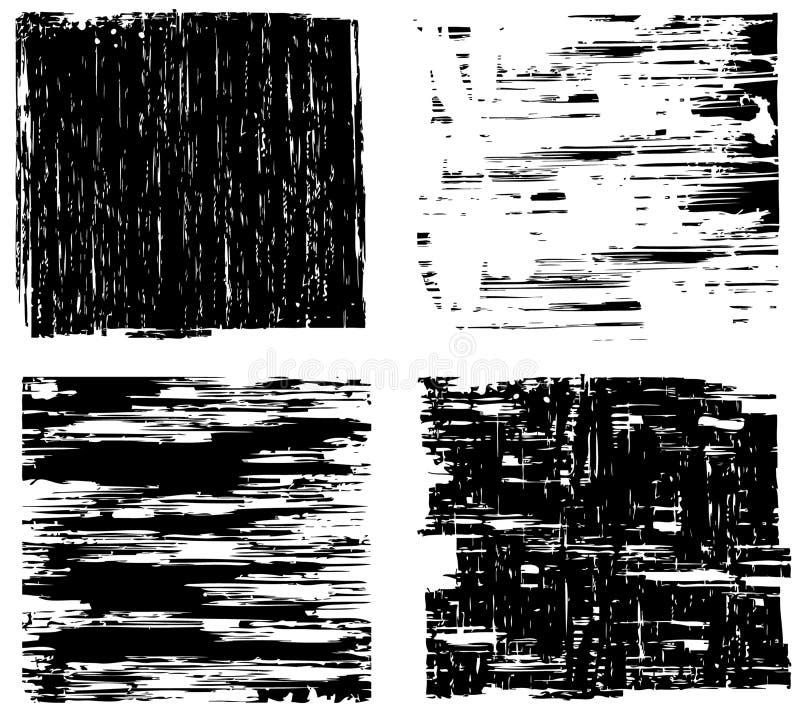 Quatre milieux grunges illustration stock