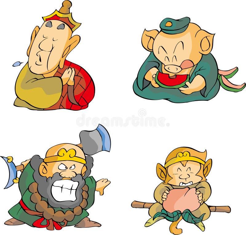 Quatre moines illustration libre de droits