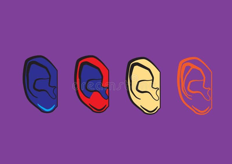 Quatre oreilles illustration libre de droits