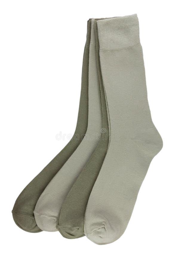 Quatre paires des chaussettes des hommes images stock