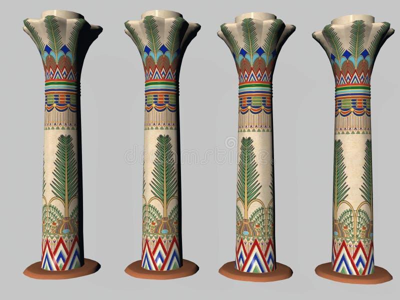 Quatre piliers égyptiens deux illustration de vecteur