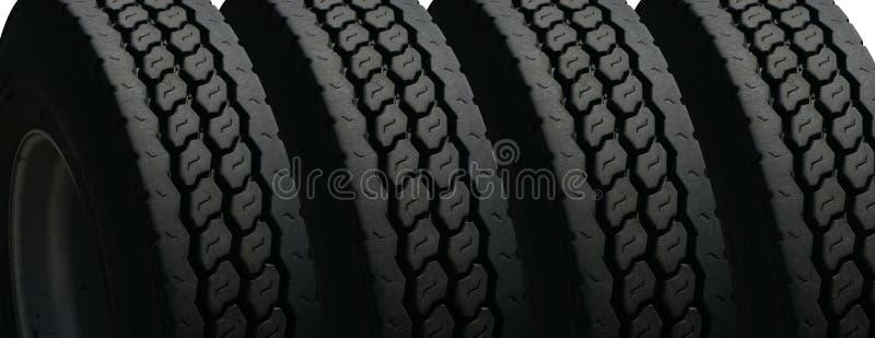 Quatre pneus photo libre de droits