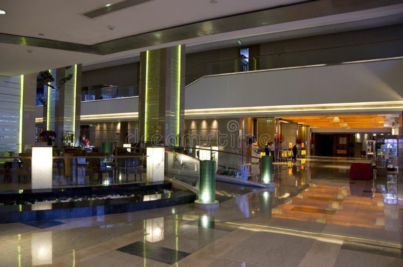 Quatre points par le lobby d'hôtel de Sheraton Beijing image stock