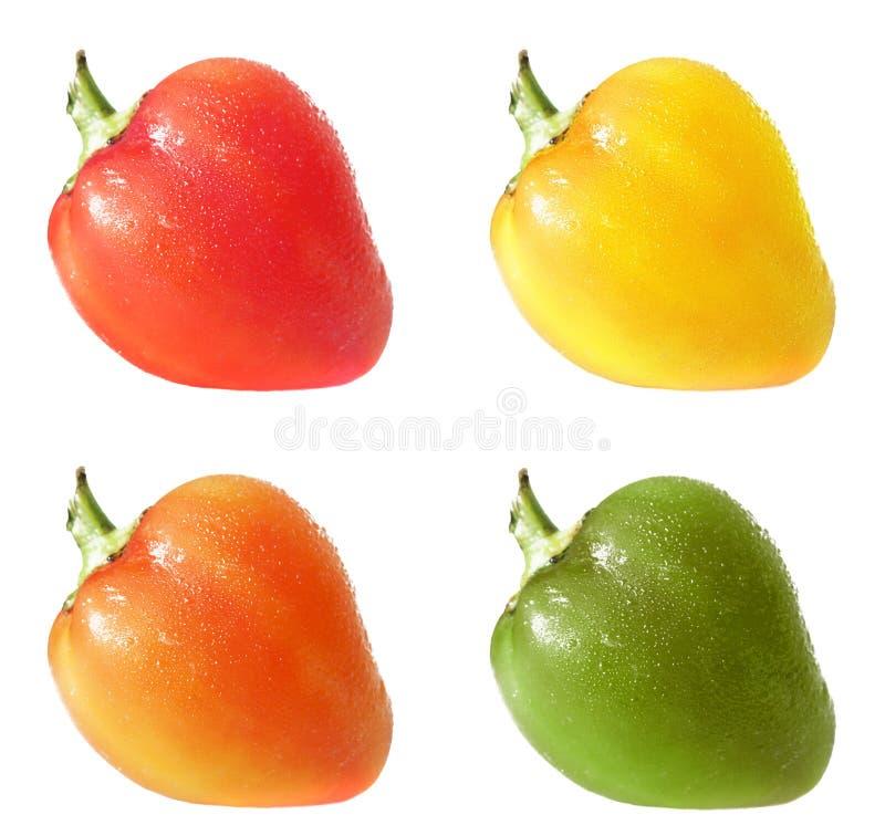 Quatre poivrons images libres de droits