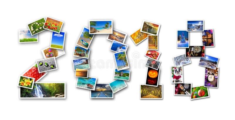 Quatre saisons dans la photographie images stock