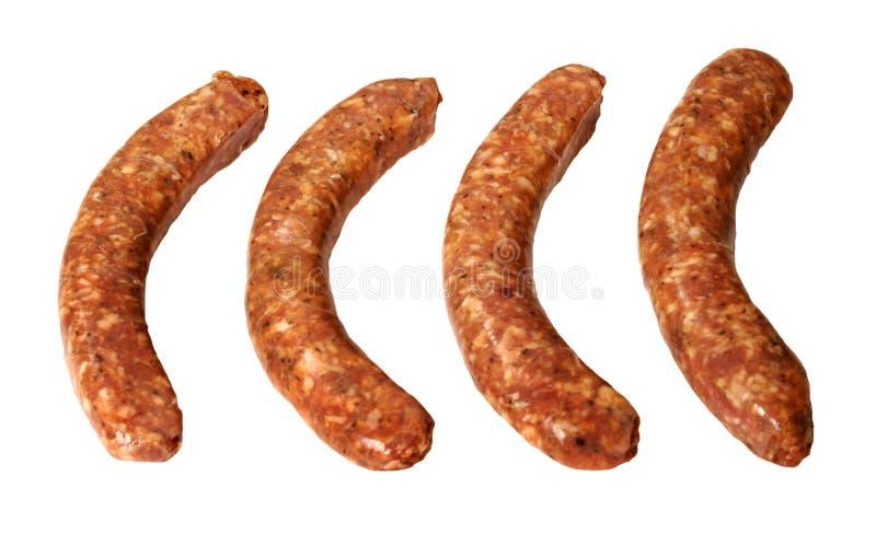 Quatre saucisses de déjeuner photo stock