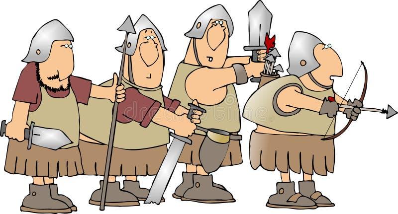 Quatre soldats illustration libre de droits
