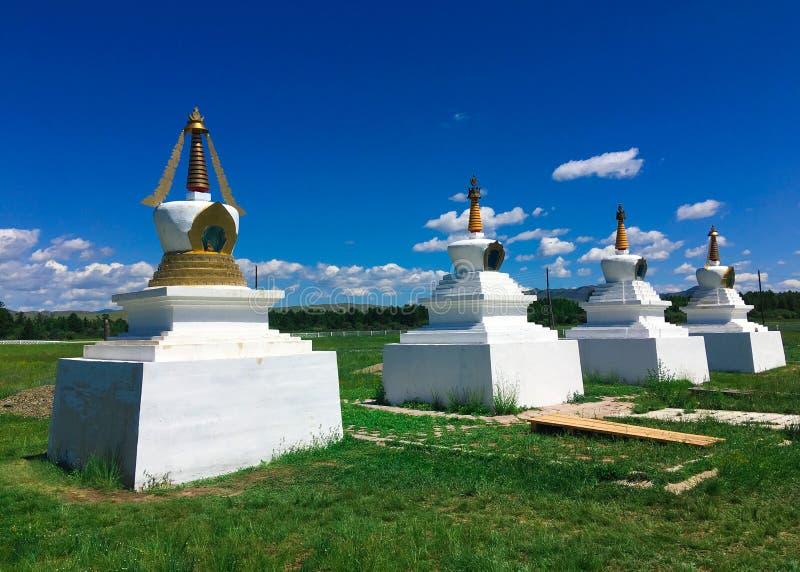 Quatre vérités Stupas de noble photo libre de droits