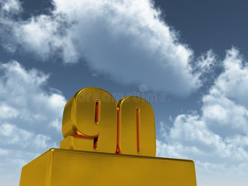 Quatre-vingt-dix illustration stock