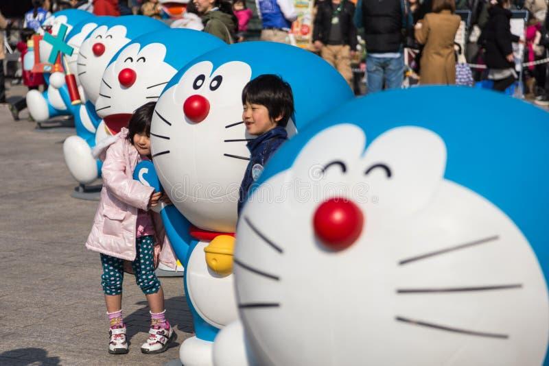 quatre-vingtième anniversaire Doraemon photographie stock