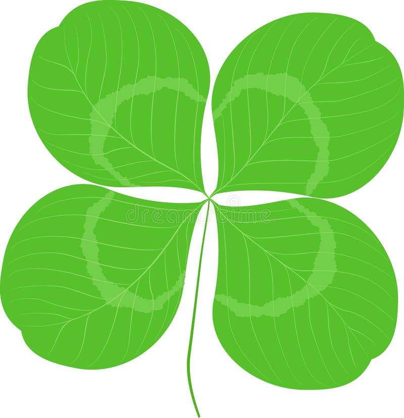 Quatrefoil叶子三叶草标志象 好运或圣帕特里克天标志 生态图象概念 库存例证