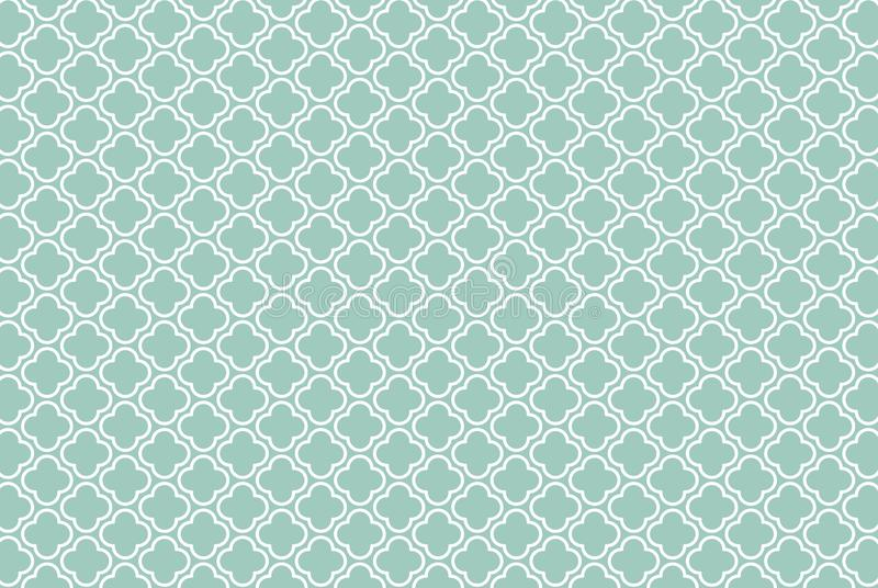 Quatrefoil geometric seamless pattern background. Illustration design. Decoration, wallpaper, backdrop, blue, mosaic, morocco, arabic, outline, concept royalty free stock image