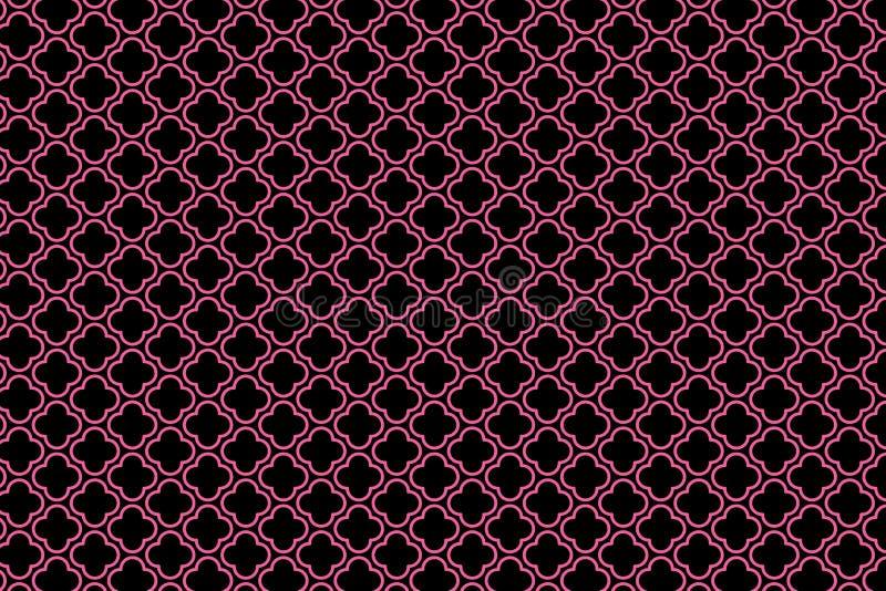 Quatrefoil geometric seamless pattern background. Quatrefoil geometric seamless pattern ground. design, decoration, new, art, outline, print, fabric, concept royalty free stock image