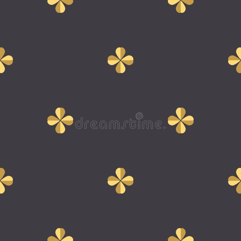 Quatrefoil koniczyna bezszwowa royalty ilustracja