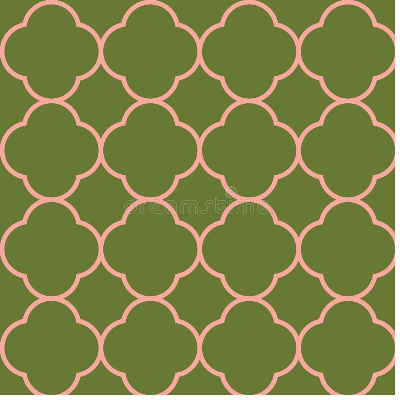 Quatrefoil seamless repeat pattern design vector illustration