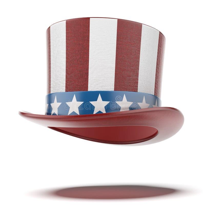 Quatrième de chapeau de juillet photographie stock