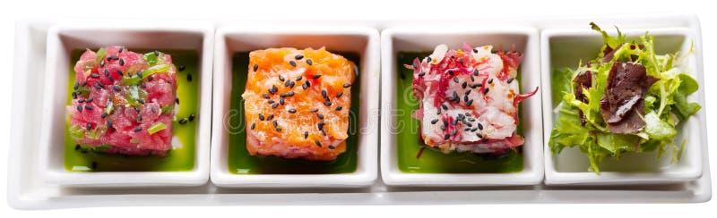 Quatro alimentos de mar imagem de stock