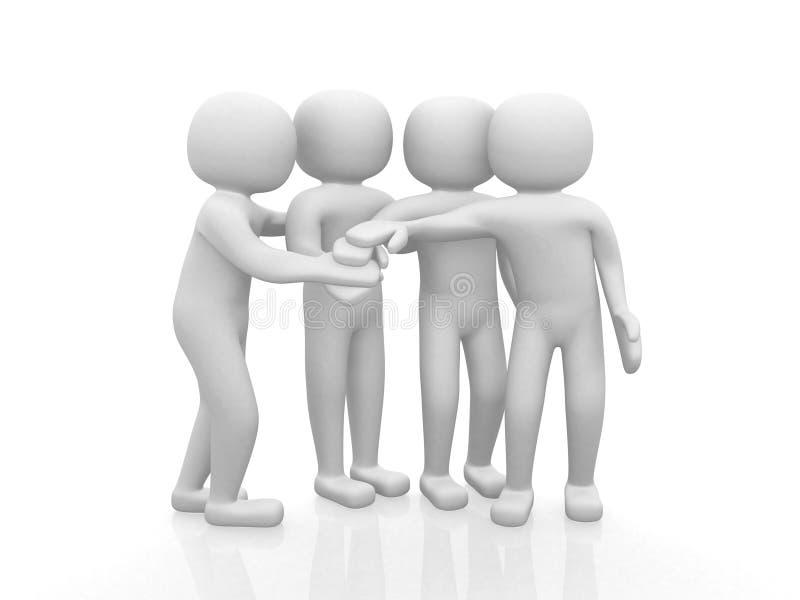 Quatro amigos - ícone 3d ilustração do vetor