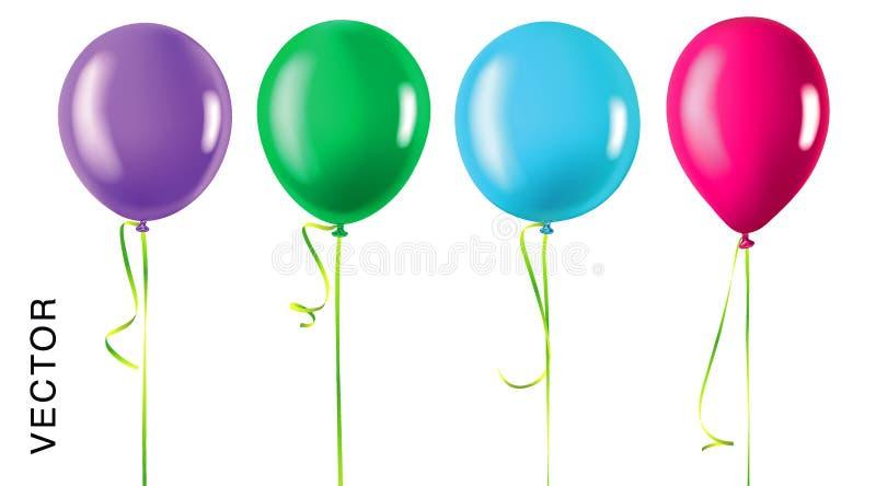 Quatro balões ilustração stock