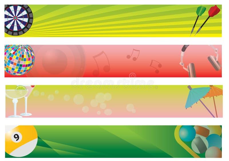 Quatro bandeiras ilustração stock