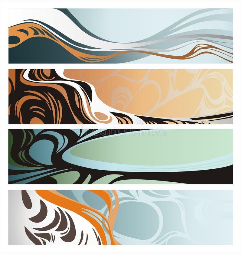 Quatro bandeiras creativas ilustração do vetor