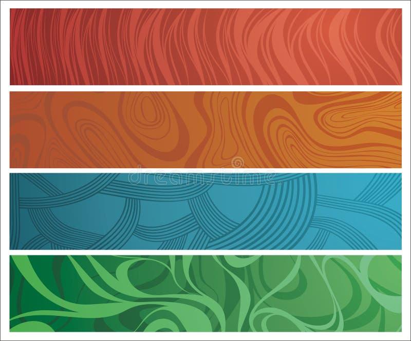 Quatro bandeiras diferentemente ornamented ilustração royalty free