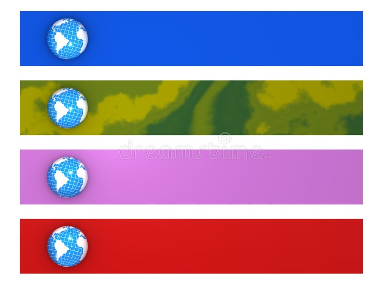 Quatro bandeiras do mundo ilustração do vetor