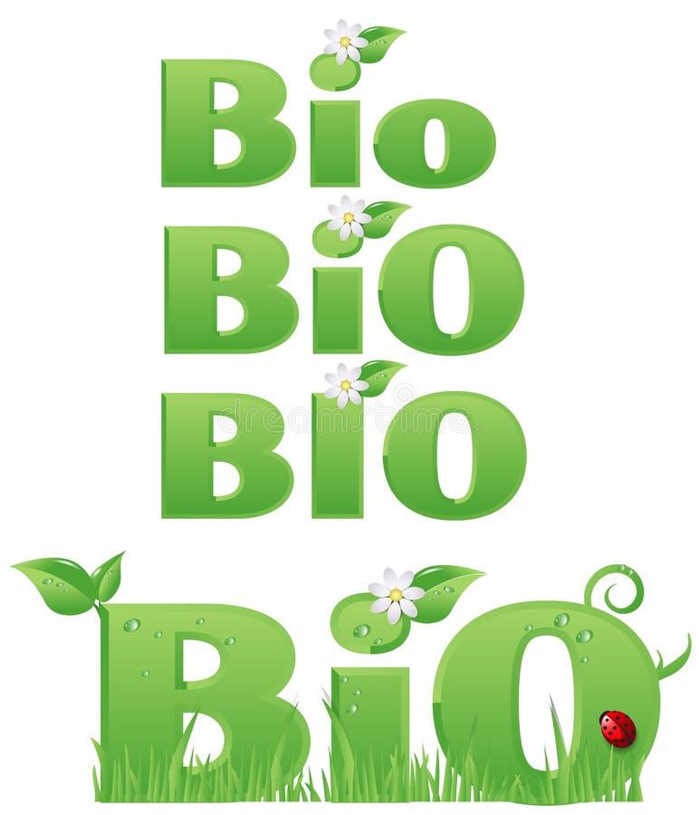 Quatro bio sinais ilustração stock