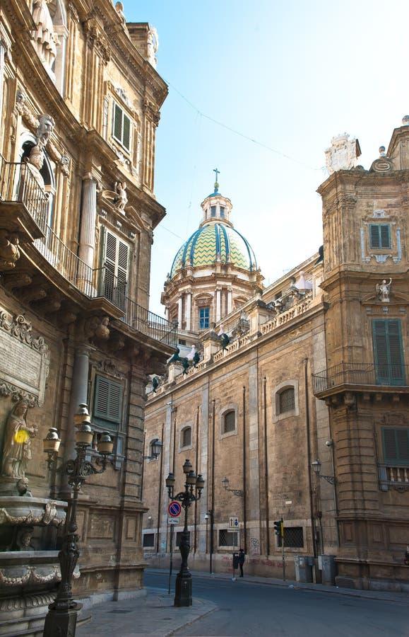 Quatro cantos Palermo fotos de stock royalty free