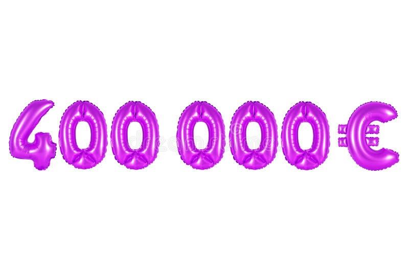 Quatro cem mil euro, cor roxa foto de stock royalty free