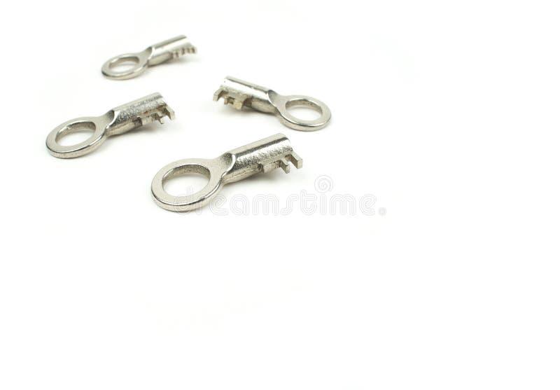 Quatro chaves do cromo imagens de stock royalty free