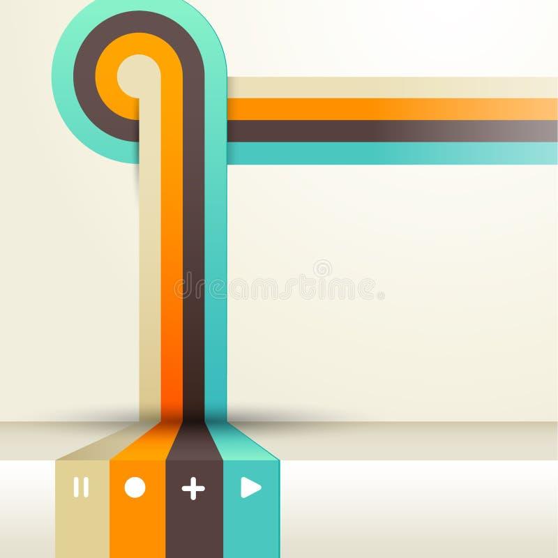 Quatro coloriram listras com lugar para seu próprio texto. ilustração stock