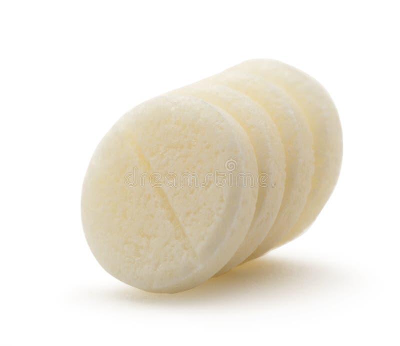 Quatro comprimidos no close up imagem de stock