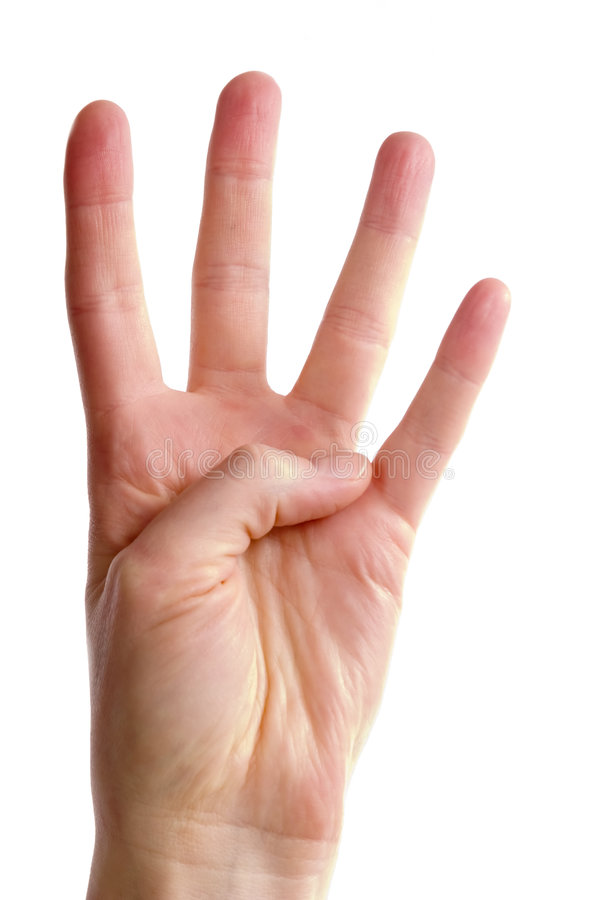 Quatro dedos fotografia de stock royalty free