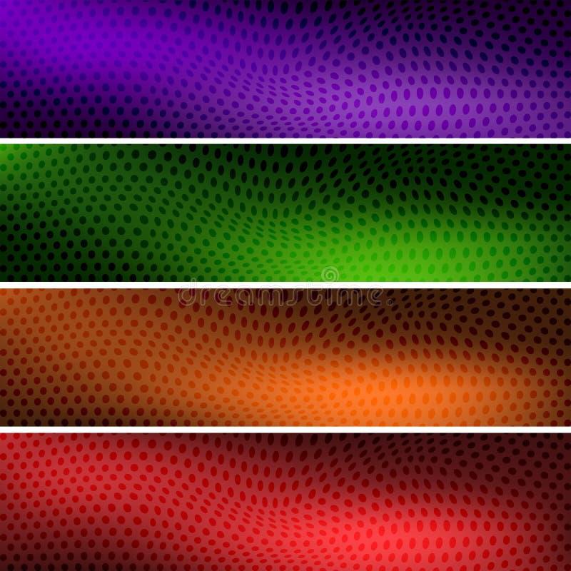 Quatro encabeçamentos coloridos dos fundos para seu local fotos de stock