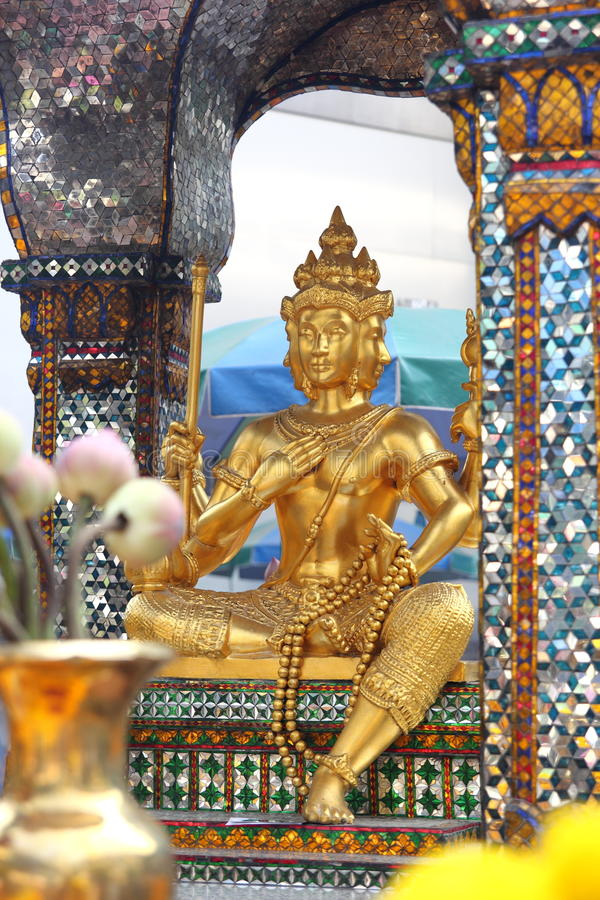 Quatro enfrentaram a estátua da Buda, Banguecoque fotos de stock royalty free