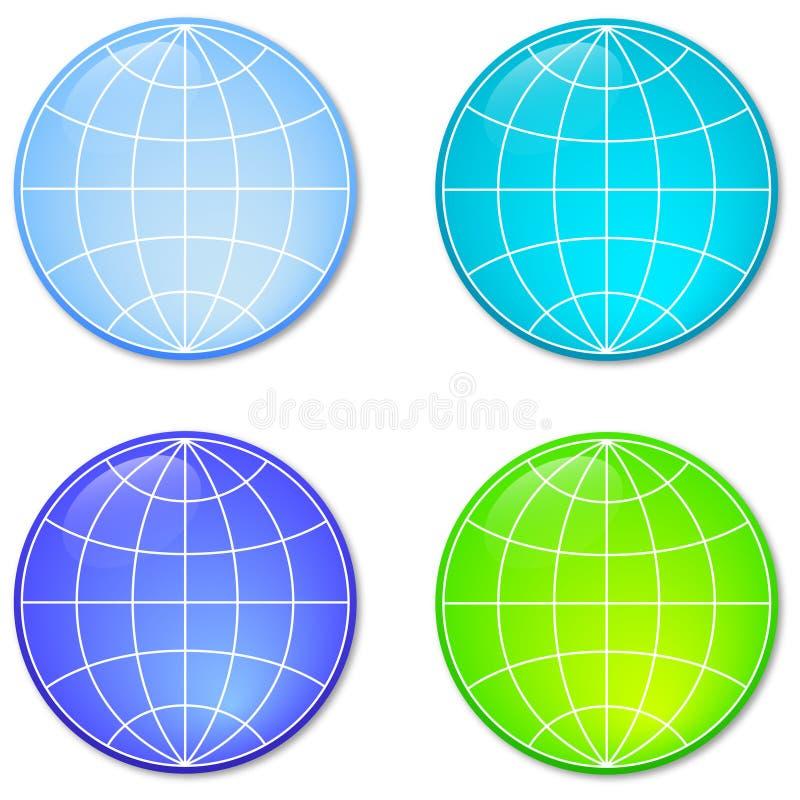 Quatro esferas foto de stock