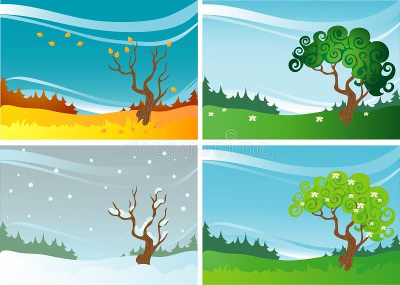 Quatro estações ilustração do vetor