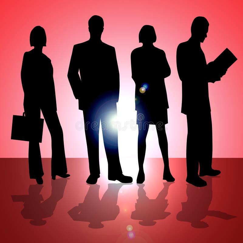Quatro executivos ilustração do vetor