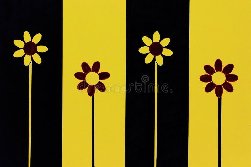 Quatro flores ilustração stock
