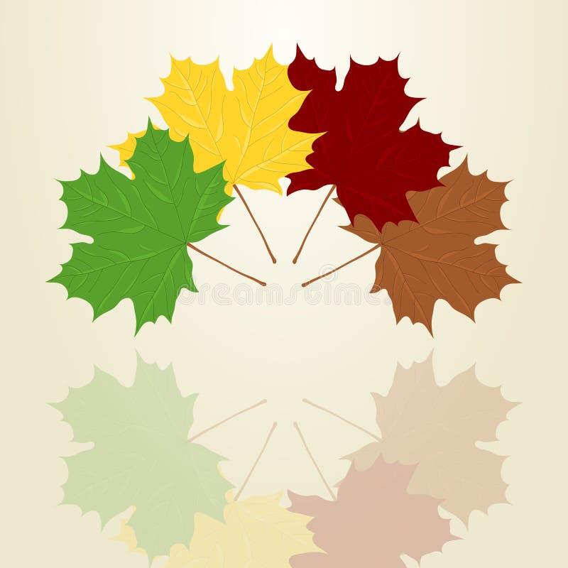Quatro folhas de bordo ilustração stock