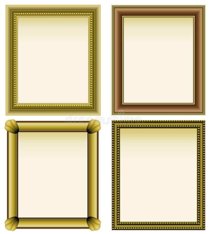Quatro frames de retrato ilustração do vetor