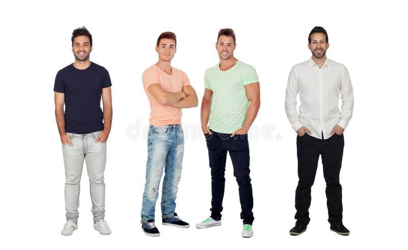 Quatro homens completos consideráveis fotografia de stock