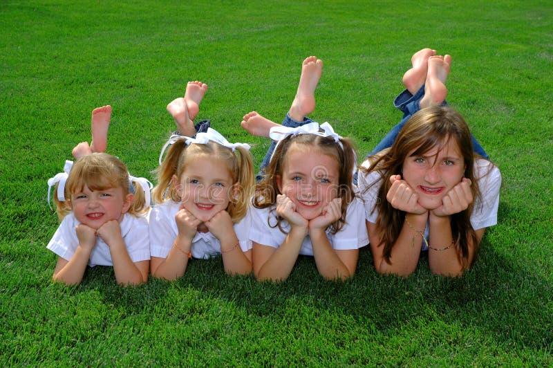 Quatro irmãs imagens de stock royalty free