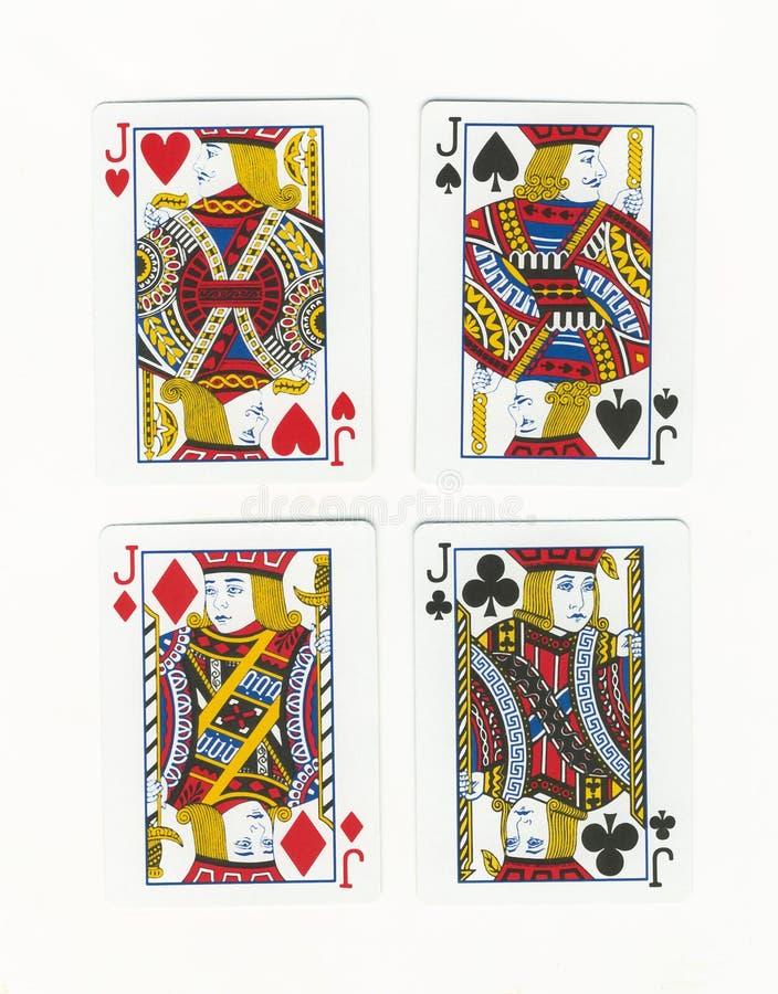 Quatro Jack imagem de stock royalty free
